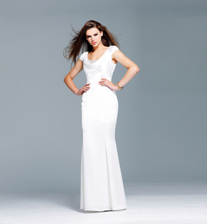 Chic and Elegant Column Gown by Faviana Glamour
