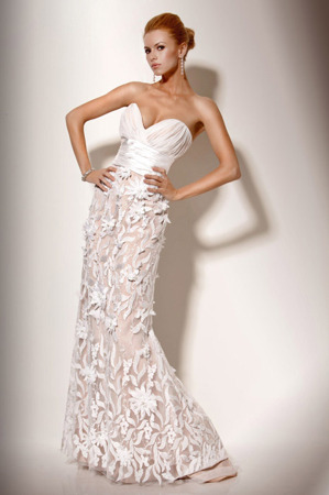 The Pure Floral Maxi-Gown by Jovani